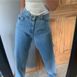 Vintage Lee Mom Light Wash High Waisted Jeans